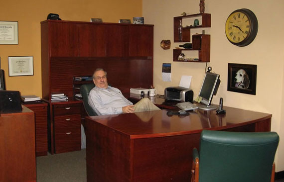 Your Empowering Solutions - Dr. Wilson in his office
